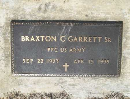 GARRETT, SR (VETERAN), BRAXTON C - Benton County, Arkansas | BRAXTON C GARRETT, SR (VETERAN) - Arkansas Gravestone Photos