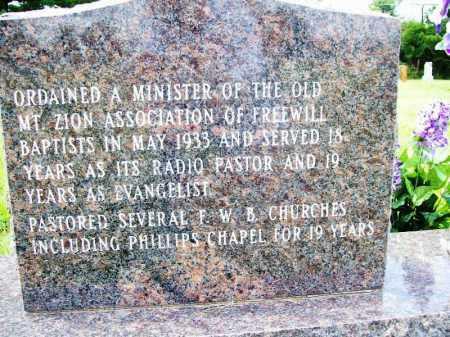 GARRISON (BACK), REV. CECIL O. - Benton County, Arkansas | REV. CECIL O. GARRISON (BACK) - Arkansas Gravestone Photos