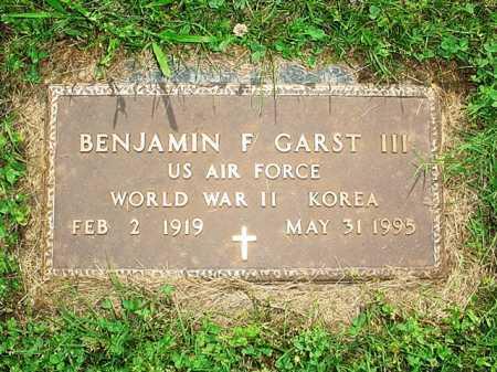 GARST III (VETERAN 2 WARS), BENJAMIN F - Benton County, Arkansas | BENJAMIN F GARST III (VETERAN 2 WARS) - Arkansas Gravestone Photos