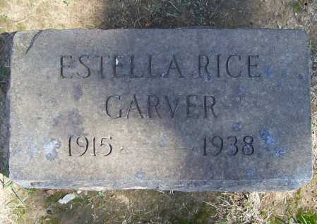 RICE GARVER, ESTELLA - Benton County, Arkansas | ESTELLA RICE GARVER - Arkansas Gravestone Photos