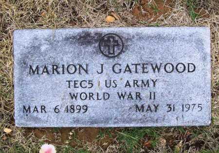 GATEWOOD (VETERAN WWII), MARION J - Benton County, Arkansas | MARION J GATEWOOD (VETERAN WWII) - Arkansas Gravestone Photos