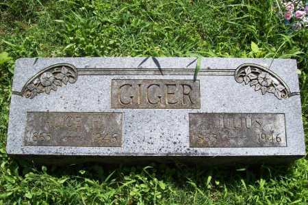 GIGER, JULIUS - Benton County, Arkansas | JULIUS GIGER - Arkansas Gravestone Photos