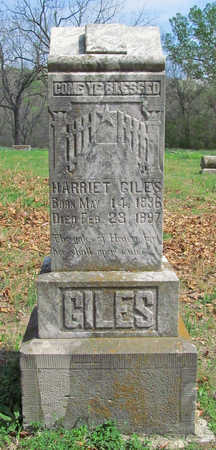 GILES, HARRIET - Benton County, Arkansas | HARRIET GILES - Arkansas Gravestone Photos