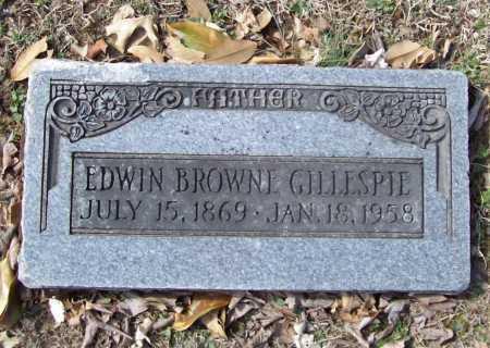 GILLESPIE, EDWIN BROWNE - Benton County, Arkansas | EDWIN BROWNE GILLESPIE - Arkansas Gravestone Photos