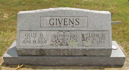 GIVENS, WILLIAM H - Benton County, Arkansas | WILLIAM H GIVENS - Arkansas Gravestone Photos