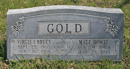 BRUCE GOLD, VIRGIE I - Benton County, Arkansas | VIRGIE I BRUCE GOLD - Arkansas Gravestone Photos