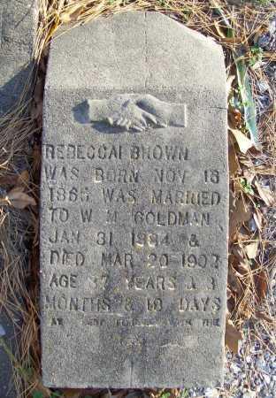 BROWN GOLDMAN, REBECCAI - Benton County, Arkansas   REBECCAI BROWN GOLDMAN - Arkansas Gravestone Photos