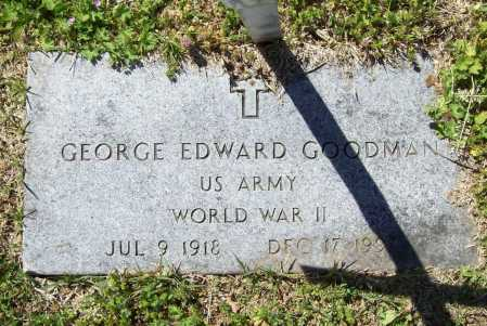 GOODMAN (VETERAN WWII), GEORGE EDWARD - Benton County, Arkansas | GEORGE EDWARD GOODMAN (VETERAN WWII) - Arkansas Gravestone Photos