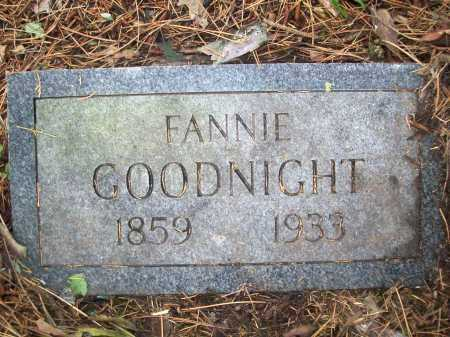 GOODNIGHT, FANNIE - Benton County, Arkansas | FANNIE GOODNIGHT - Arkansas Gravestone Photos
