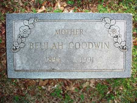 GOODWIN, BEULAH - Benton County, Arkansas | BEULAH GOODWIN - Arkansas Gravestone Photos