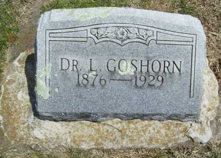 GOSHORN, DR. L. - Benton County, Arkansas | DR. L. GOSHORN - Arkansas Gravestone Photos