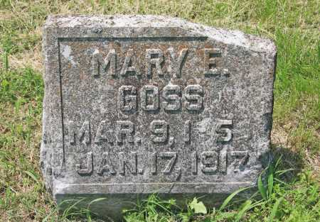 GOSS, MARY E - Benton County, Arkansas | MARY E GOSS - Arkansas Gravestone Photos