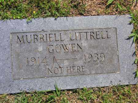 LITTRELL GOWEN, MURRRIELL - Benton County, Arkansas | MURRRIELL LITTRELL GOWEN - Arkansas Gravestone Photos