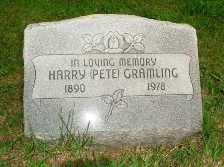 GRAMLING, HARRY (PETE) - Benton County, Arkansas | HARRY (PETE) GRAMLING - Arkansas Gravestone Photos