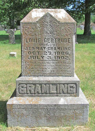 GRAMLING, LOUIE GERTRUDE - Benton County, Arkansas | LOUIE GERTRUDE GRAMLING - Arkansas Gravestone Photos