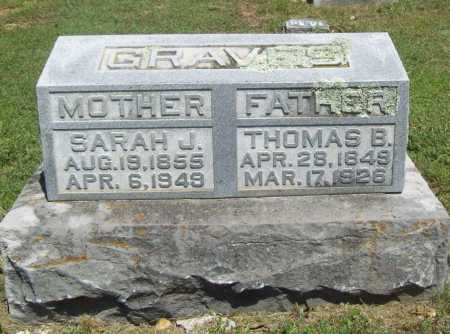 GRAVES, SARAH J - Benton County, Arkansas | SARAH J GRAVES - Arkansas Gravestone Photos
