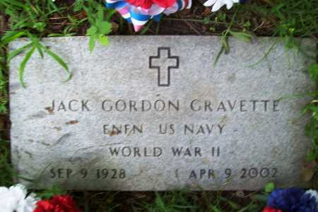 GRAVETTE (VETERAN WWII), JACK GORDON - Benton County, Arkansas | JACK GORDON GRAVETTE (VETERAN WWII) - Arkansas Gravestone Photos