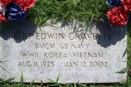 GRAVETTE (VETERAN 3 WARS), BERT EDWIN - Benton County, Arkansas | BERT EDWIN GRAVETTE (VETERAN 3 WARS) - Arkansas Gravestone Photos