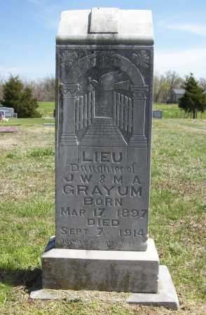 GRAYUM, LIEU - Benton County, Arkansas | LIEU GRAYUM - Arkansas Gravestone Photos