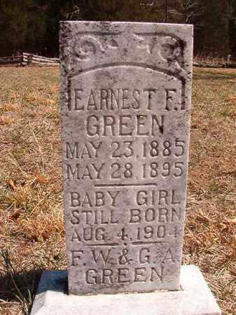 GREEN, EARNEST F - Benton County, Arkansas | EARNEST F GREEN - Arkansas Gravestone Photos