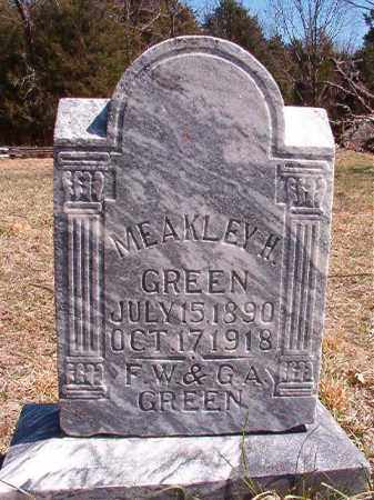 GREEN, MEAKLEY H - Benton County, Arkansas | MEAKLEY H GREEN - Arkansas Gravestone Photos
