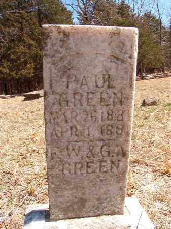 GREEN, PAUL - Benton County, Arkansas | PAUL GREEN - Arkansas Gravestone Photos