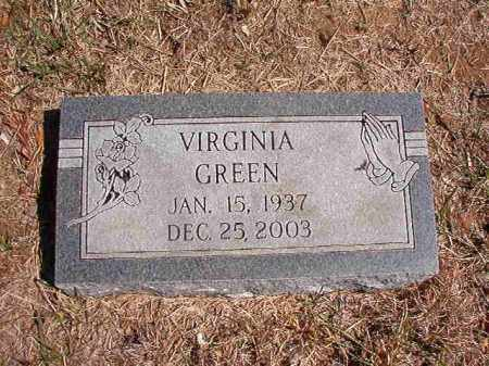 GREEN, VIRGINIA - Benton County, Arkansas | VIRGINIA GREEN - Arkansas Gravestone Photos