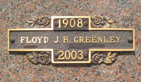 GREENLEY, FLOYD J H - Benton County, Arkansas | FLOYD J H GREENLEY - Arkansas Gravestone Photos