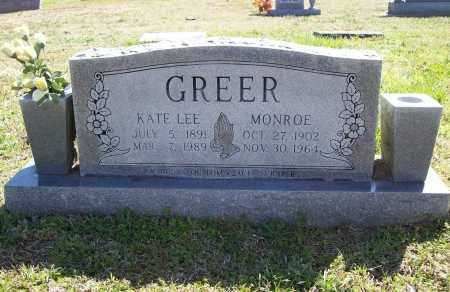 GREER, MONROE - Benton County, Arkansas | MONROE GREER - Arkansas Gravestone Photos