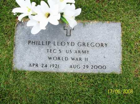 GREGORY (VETERAN WWII), PHILLIP LLOYD - Benton County, Arkansas | PHILLIP LLOYD GREGORY (VETERAN WWII) - Arkansas Gravestone Photos