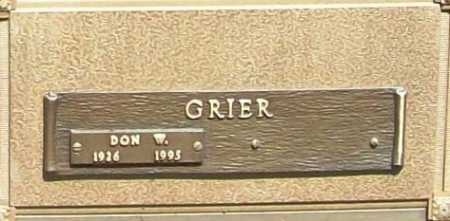 GRIER (VETERAN WWII), DON W - Benton County, Arkansas | DON W GRIER (VETERAN WWII) - Arkansas Gravestone Photos