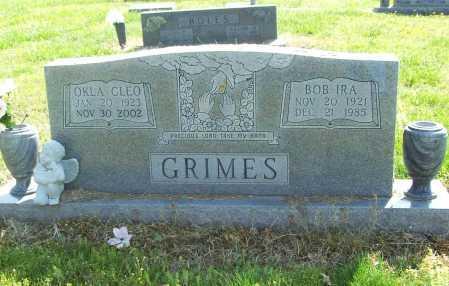GRIMES, OKLA CLEO - Benton County, Arkansas | OKLA CLEO GRIMES - Arkansas Gravestone Photos