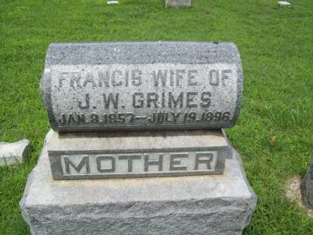 GRIMES, FRANCIS - Benton County, Arkansas | FRANCIS GRIMES - Arkansas Gravestone Photos