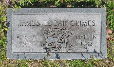 GRIMES, JAMES EDGAR - Benton County, Arkansas | JAMES EDGAR GRIMES - Arkansas Gravestone Photos
