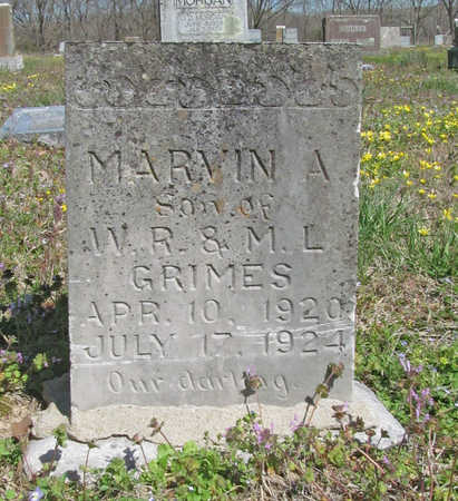 GRIMES, MARVIN A. - Benton County, Arkansas | MARVIN A. GRIMES - Arkansas Gravestone Photos