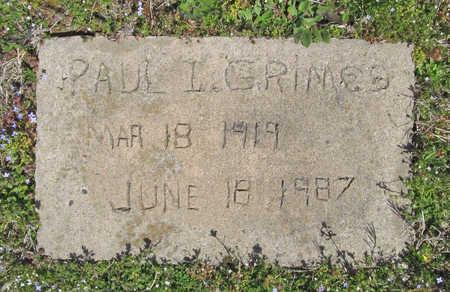 GRIMES, PAUL I. - Benton County, Arkansas | PAUL I. GRIMES - Arkansas Gravestone Photos