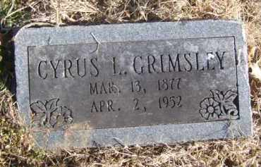 GRIMSLEY, CYRUS L. - Benton County, Arkansas | CYRUS L. GRIMSLEY - Arkansas Gravestone Photos