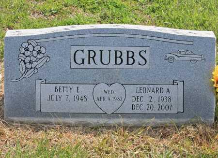 GRUBBS, LEONARD ALLEN - Benton County, Arkansas | LEONARD ALLEN GRUBBS - Arkansas Gravestone Photos