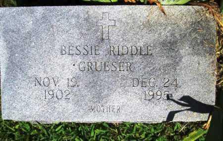 RIDDLE GRUESER, BESSIE - Benton County, Arkansas | BESSIE RIDDLE GRUESER - Arkansas Gravestone Photos