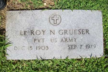 GRUESER (VETERAN), LE ROY N. - Benton County, Arkansas | LE ROY N. GRUESER (VETERAN) - Arkansas Gravestone Photos