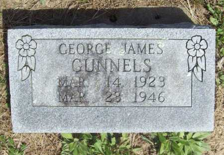 GUNNELS, GEORGE JAMES - Benton County, Arkansas | GEORGE JAMES GUNNELS - Arkansas Gravestone Photos