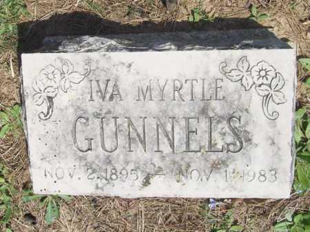 GUNNELS, IVA MYRTLE - Benton County, Arkansas | IVA MYRTLE GUNNELS - Arkansas Gravestone Photos
