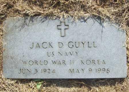 GUYLL (VETERAN 2 WARS), JACK D - Benton County, Arkansas | JACK D GUYLL (VETERAN 2 WARS) - Arkansas Gravestone Photos