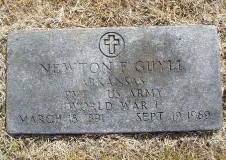 GUYLL (VETERAN WWI), NEWTON F - Benton County, Arkansas | NEWTON F GUYLL (VETERAN WWI) - Arkansas Gravestone Photos