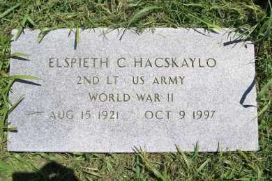 HACSKAYLO (VETERAN WWII), ELSPIETH C - Benton County, Arkansas | ELSPIETH C HACSKAYLO (VETERAN WWII) - Arkansas Gravestone Photos