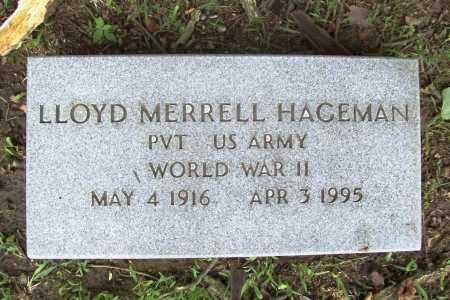 HAGEMAN (VETERAN WWII), LLOYD MERRELL - Benton County, Arkansas | LLOYD MERRELL HAGEMAN (VETERAN WWII) - Arkansas Gravestone Photos