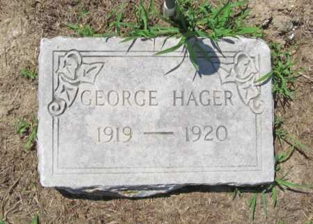 HAGER, GEORGE - Benton County, Arkansas | GEORGE HAGER - Arkansas Gravestone Photos