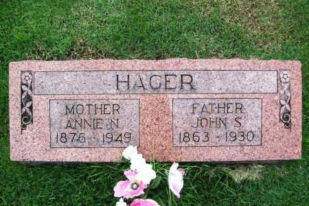 HAGER, ANNIE N. - Benton County, Arkansas | ANNIE N. HAGER - Arkansas Gravestone Photos