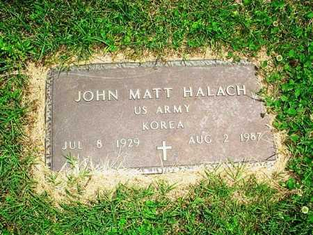 HALACH (VETERAN KOR), JOHN MATT - Benton County, Arkansas | JOHN MATT HALACH (VETERAN KOR) - Arkansas Gravestone Photos