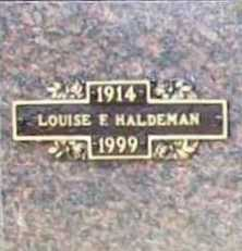 HALDEMAN, LOUISE F. - Benton County, Arkansas | LOUISE F. HALDEMAN - Arkansas Gravestone Photos